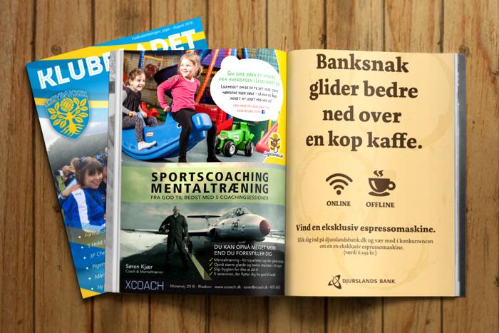 klubbladet bliv annoncør - lokal markedsføring