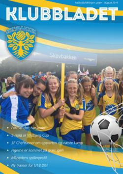 skovbakken kvindefodbold klubbladet august 2016